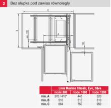 MAXIMA CLASSIC Kosz Corner Comfort 800 Lewy Chrom - Rejs