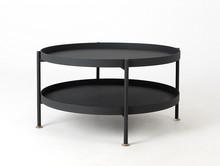 Stół kawowy HANNA METAL 80-2F - czarny