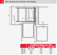 MAXIMA CLASSIC Kosz Corner Comfort 1200 Lewy Chrom - Rejs