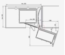 MAXIMA CLASSIC Kosz Corner Front 900 Prawy Metal Chrom - Rejs