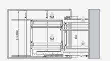 MAXIMA CLASSIC Kosz Corner Front 900 Lewy Metal Chrom - Rejs