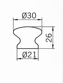 Gałka S367-30 Z Kolekcji Edelweiss Stare Srebro, Świerk Surowy - Siro