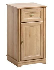 Klasyczna szafka niska w odcieniu dębu z kolekcji Palace riviera została wzbogacona o piękne metalowe uchwyty. Każda łazienka nabierze pięknego ciepłego...