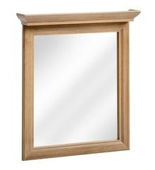 Klasyczne lustro łazienkowe w ramie z pięknym ozdobnym cokołem górnym.  Głębokość: 11 Szerokość: 60 Waga: 7 Wysokość: 76 Kolor korpus: Dąb...