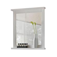 Klasyczne lustro w białej ramie wykonanej z naturalnego drewna. Lustro posiada praktyczną półkę   Ilość półek: 1 Waga: 11 Szerokość: 70...