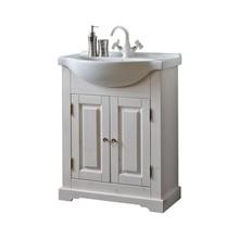 Stojąca szafka pod umywalkę o szerokości 65cm została w całości wykonana z naturalnego drewna, które zostało polakierowane na klasyczny biały kolor z...