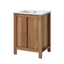 Stojąca szafka z umywalką została wykończona dekorem dębu country i uzupełniona o zawiasy z cichym zamykaniem, w środku szafki znajdziesz dodatkową...