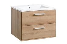 Szafka z umywalką 60 cm w odcieniu dębu riviera. Szafka posiada szuflady z systemem cichego zamykania.