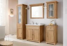 Klasyczny zestaw mebli łazienkowych w odcieniu dębu riviera. Z każdej łazienki uczyni prawdziwy pałac.  Waga: 120 Wymiary misy: 46 x 28 Kolor front:...