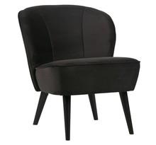 Fotel SARA z aksamitu - antracytowy