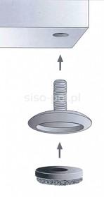 Systemy cokołowe QC STOPKA/ŚLIZGACZ M8X25MM/FI30MM/ULTRA SOFT - Siso