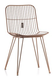 Krzesło metalowe MILAZO_Aluro Gold
