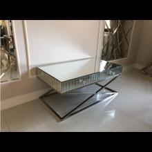 Stolik kawowy/stolik RTV lustrzany z szufladami