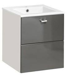 Biała szafka z umywalką z kolekcji Finka Grey