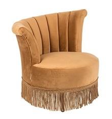 Wyjątkowy fotel Flair obity aksamitem z asymetrycznym oparciem.  Materiał: Obicie wykonane z aksamitu, rama z drewna sosnowego  Wymiary:  Wysokość...