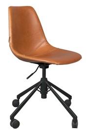 Krzesło biurowe FRANKY - brązowe