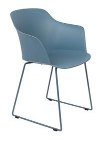Kolor: niebieski  Materiał:polipropylen  Wymiary:  Wysokość siedzenia: 45.5 cm Głębokość siedzenia: 45 cm Głębokość: 54 cm...