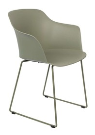 Kolor: zielony  Materiał:polipropylen  Wymiary:  Wysokość siedzenia: 45.5 cm Głębokość siedzenia: 45 cm Głębokość: 54 cm...