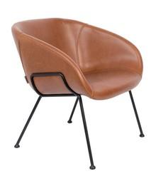 Fotel lounge FESTON - brązowy