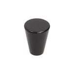 Gałka GU07 w kolorze czarny mat w stylu nowoczesnym  Średnica: fi 20mm  Materiał: ZnAl