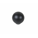 Gałka DG16 w kolorze czarnym  Materiał: tworzywo  Średnica: 29 mm