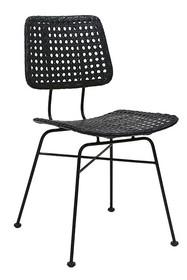 Krzesło rattanowe - czarne