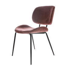 Krzesło do jadalni velvet różowe