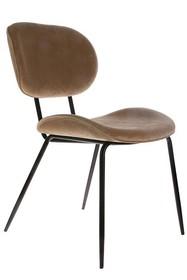 Krzesło do jadalni velvet piaskowe