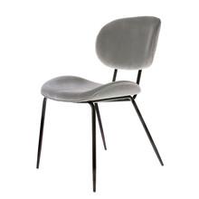 Krzesło do jadalni velvet chłodny szary