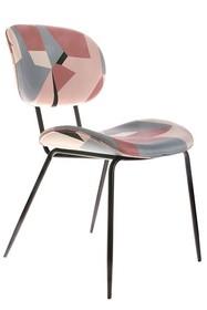 Krzesło do jadalni z geometrycznym nadrukiem