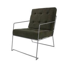 Fotel ze sztruksu, ciemnozielony