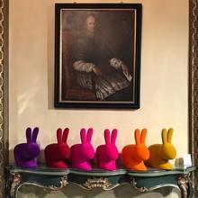 Rabbit Chair Baby VELVET fioletowy