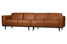 Sofa Statement 4-osobowa 280 cm ekoskóra koniakowa