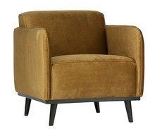 Fotel STATEMENT - velvet miodowy