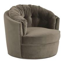 Obrotowy fotel CAROUSEL velvet - khaki