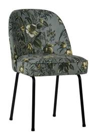 Krzesło VOGUE - szare z motywem kwiatowym