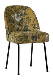 Krzesło VOGUE - żółty z motywem kwiatowym