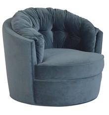 Fotel obrotowy CAROUSEL velvet - niebieski