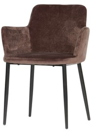 Krzesło Tatum velvet ciemnooszare