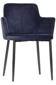 Krzeslo Tatum velvet niebieskie