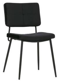 Zestaw 2 krzeseł KAAT velvet - czarne