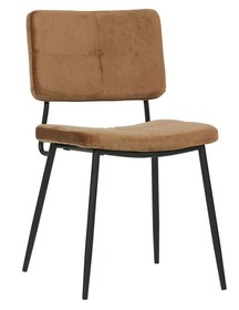 Zestaw 2 krzeseł KAAT velvet - karmelowe