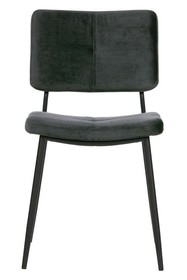 Zestaw 2 krzeseł KAAT velvet - antracytowe