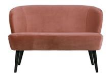 Sofa SARA - aksamit / postarzany różowy