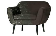 Fotel ROCCO velvet - z nadrukiem