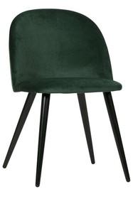 Zestaw 2 krzeseł FAY velvet - ciemnozielone