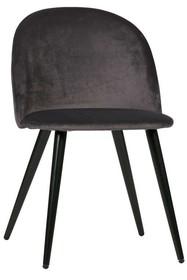 Zestaw 2 krzeseł FAY velvet - antracytowe