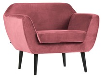 Fotel ROCCO velvet - różowy