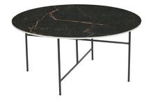 Stolik VIDA z marmurowym blatem 40x80 - czarny