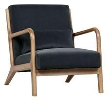 Fotel Mark velvet - antracytowy